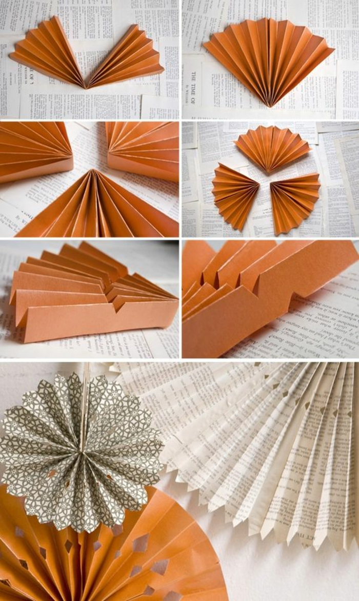 große blumen aus buchseiten selber machen, wanddeko aus papier