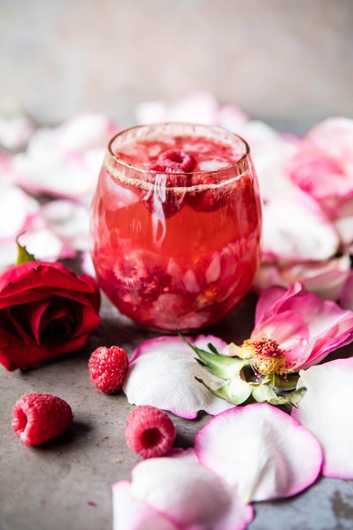 """Cocktail Rezepte, """"Kombucha"""", Cocktail mit Himbeeren, lecker und erfrischend"""