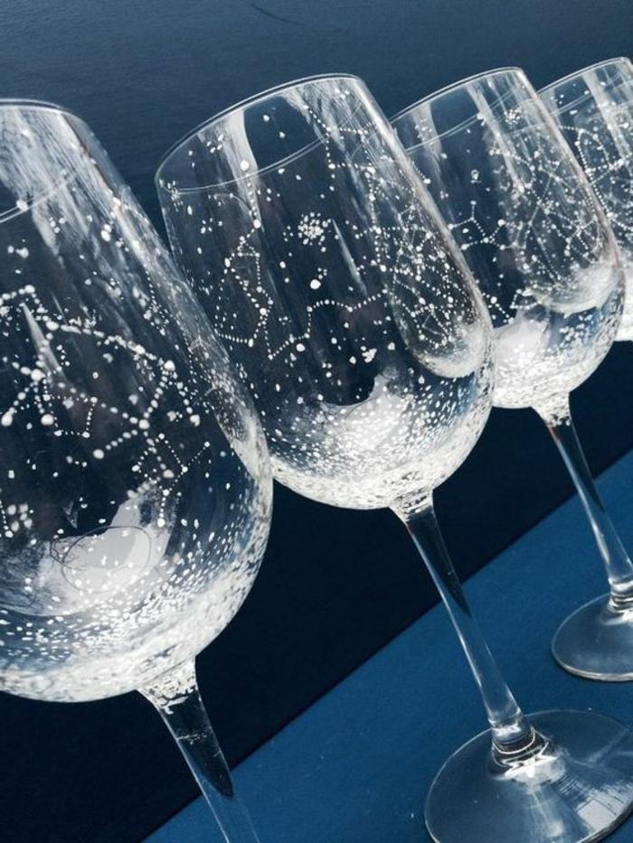 ▷ 1001+ Ideen, wie Sie kreativ Weingläser dekorieren können