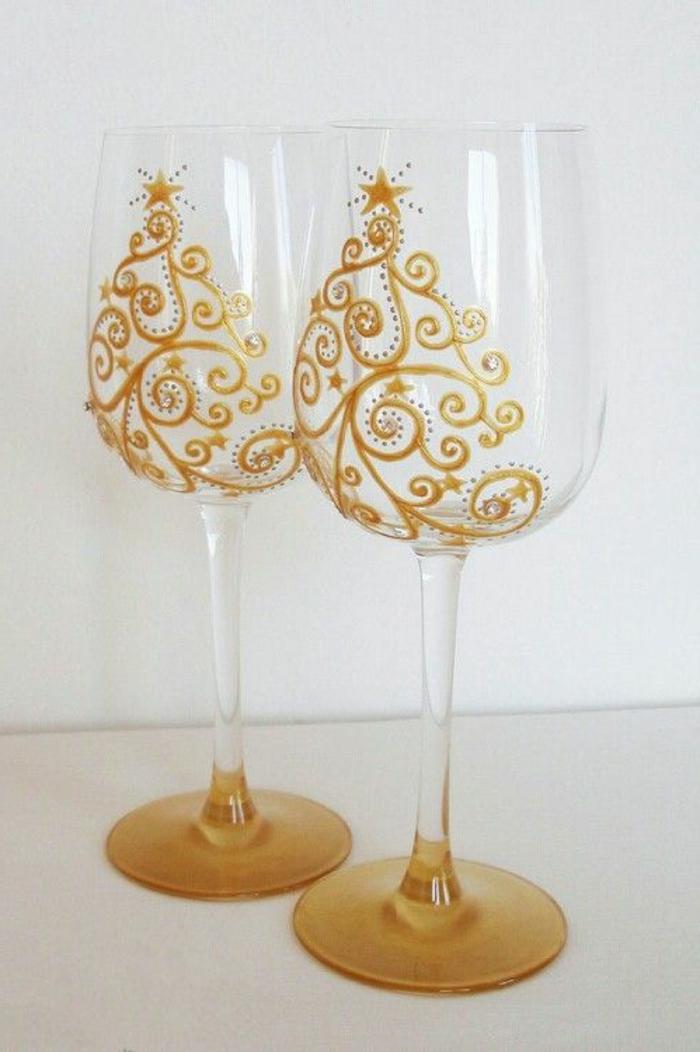 1001 ideen wie sie kreativ weingl ser dekorieren k nnen - Deko glas weihnachtlich dekorieren ...
