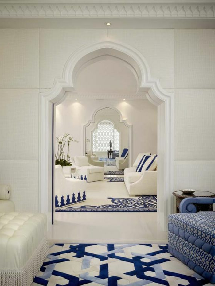 lampe orientalisch tolle design ideen zum entlehnen inspiration vom orient weiß und blau kombinieren
