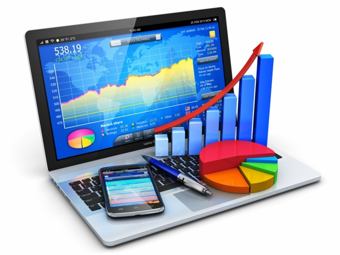 trendy im business sein heißt immer die letzten technologien zu nutzen computer tablett handy smart technologien