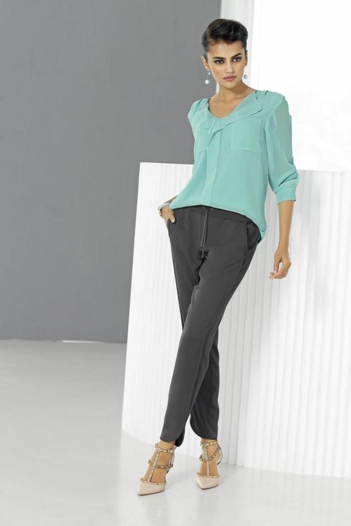 Designer Jogginghose für Damen zum lockere seidige bluse