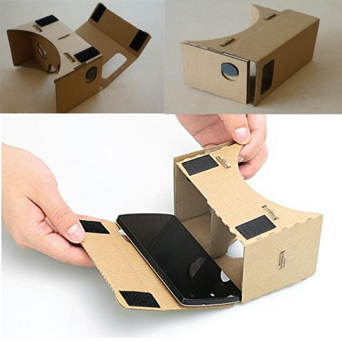 noch eine kinderleichte anleitung für vr brille selber bauen - ein smartphone und vr brille aus pappe