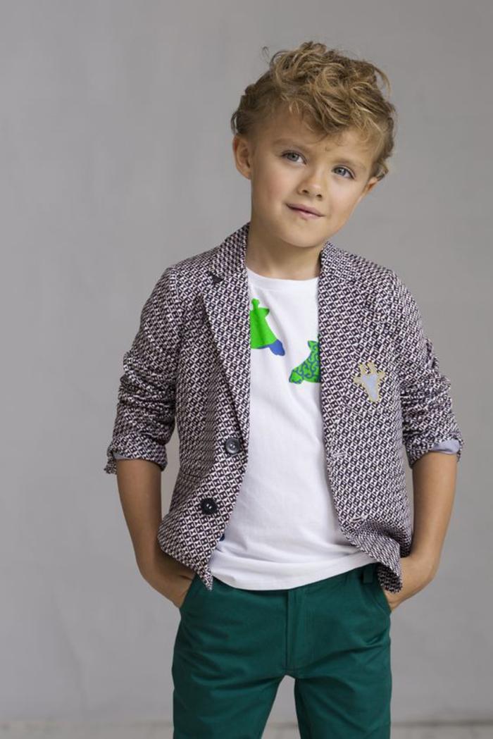 festliche Kinderkleider, elegante Jungenkleidung, T-Shirt und Blazer mit Giraffen