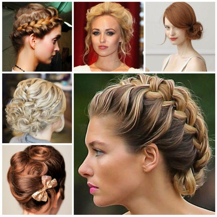 geflochten Haare in verschiedenen Farben und Stile, sechs Vorschläge für Frisuren Mittelalter