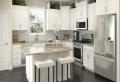Weiße Küche: die letzte Gestaltungstendenz