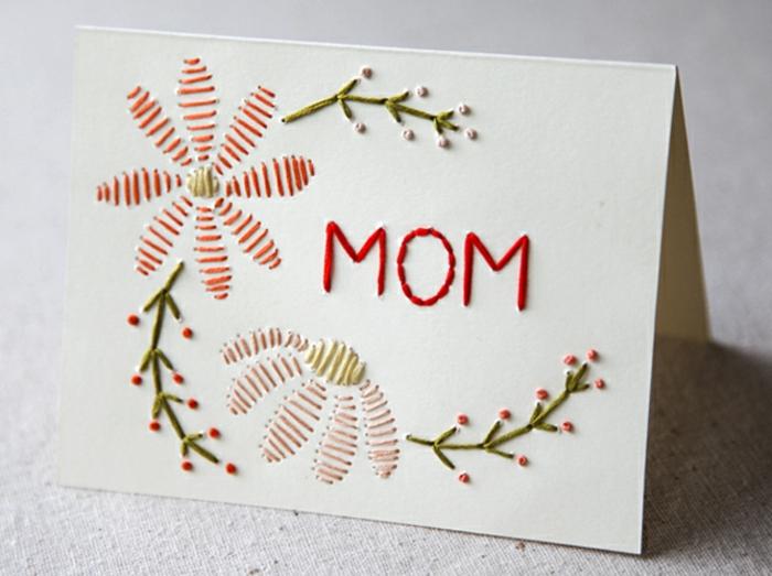 Muttertag Geschenkideen - können Sie ein bisschen nähen, schaffen Sie diese Karte selbst