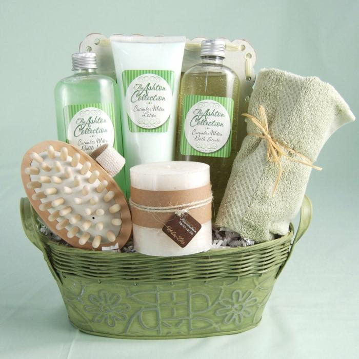 Baden Zubehör eine Duftkerze Tuch - Geschenkkorb Ideen zum Geburtstag