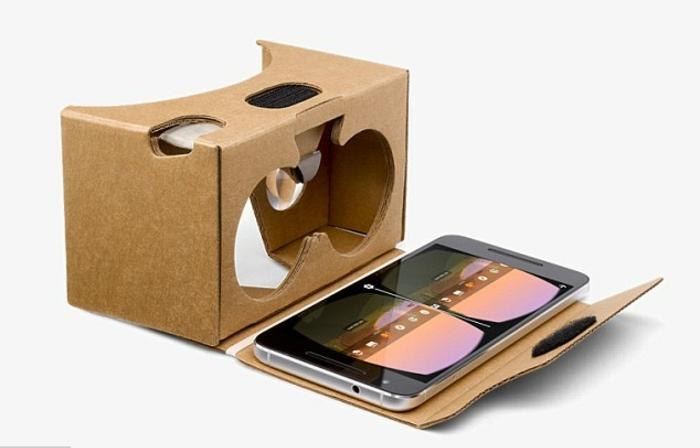 noch eine idee für vr brille, die ihnen sehr gut gefallen könnte - hier sind selbst gemachte vr brille aus pappe und ein smartphone