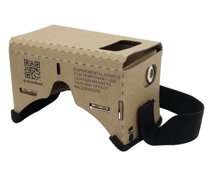 noch tolle virtuelle realität brille aus pappe mit einem schwarzen gummiband - idee für selbts gemachte vr brille
