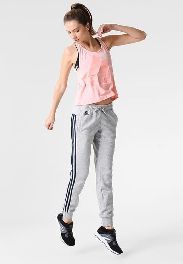 seitlich angebrachten Streifen jogginghosen damen adidas
