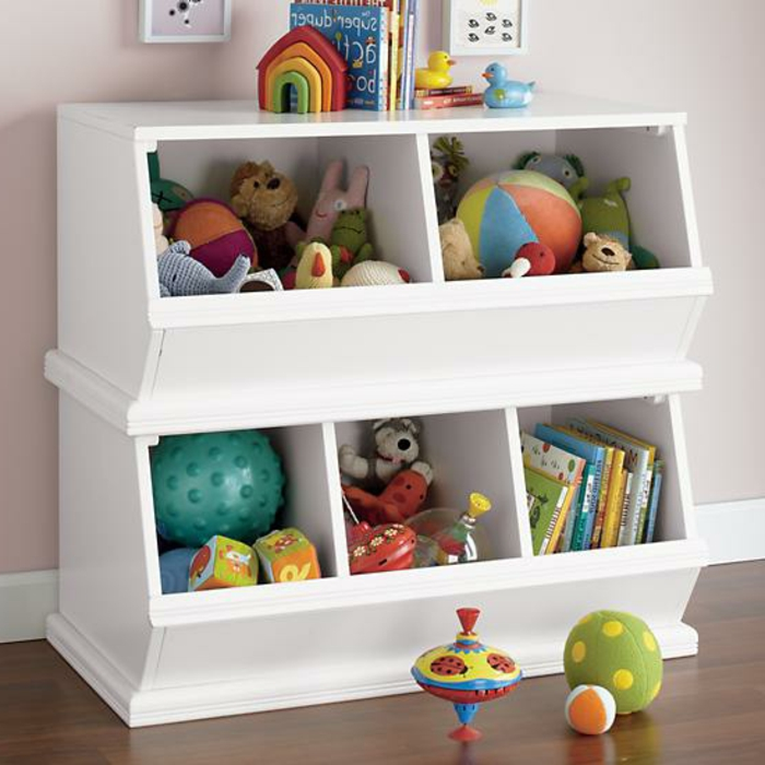 Kinderzimmer einrichten: Rabatte für Aufbewahrungssysteme für Spilezeuge, Plüschspielzeuge, Bälle etc.