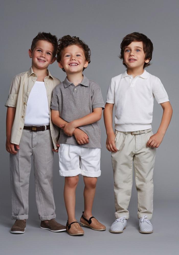 Sommermode für Jungen, T-Shirts mit langen/kurzen Hosen kombiniert, helle Farbtöne