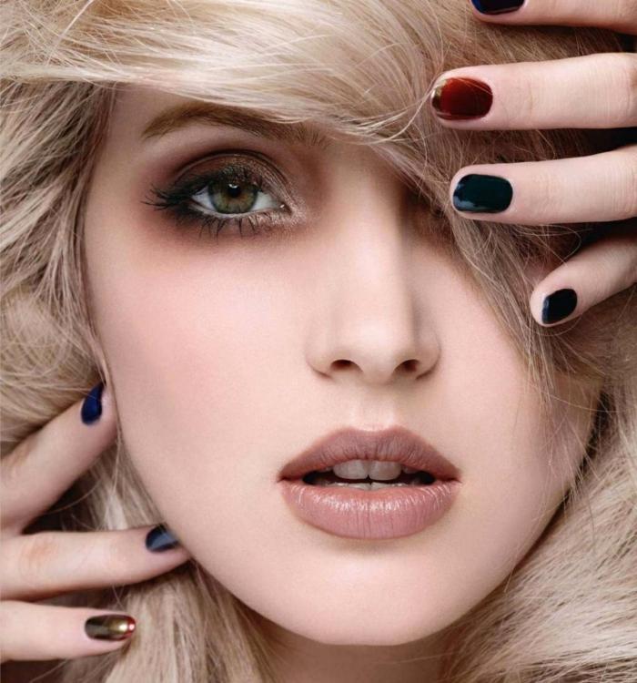 75 inspirierende abend make up vorschl ge f r stilvolle damen - Nageldesign braun beige ...