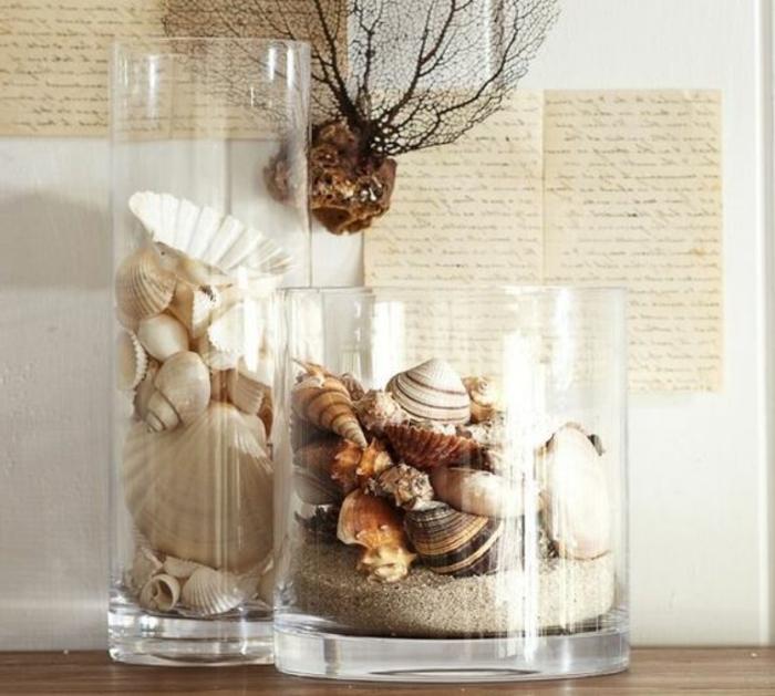 1001 ideen und inspirationen f r maritime deko basteln - Glaser dekorieren mit sand ...