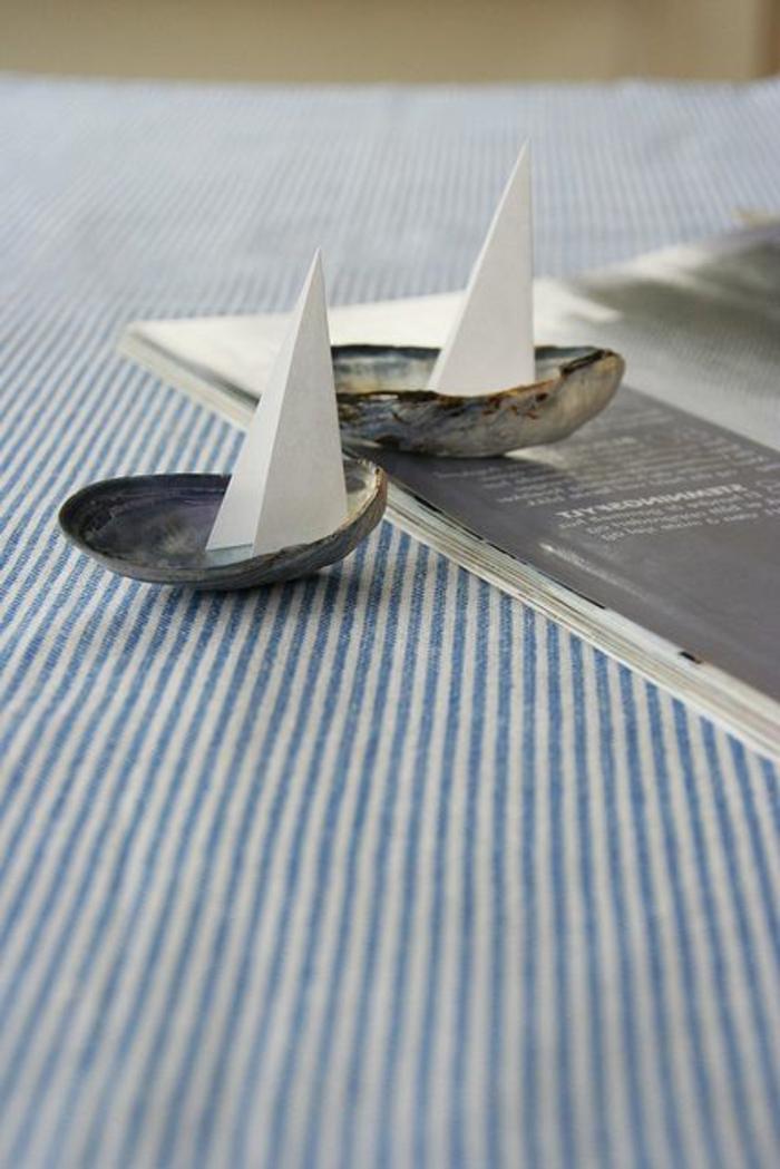 basteln mit muscheln kleine segelschiffchen selber machen