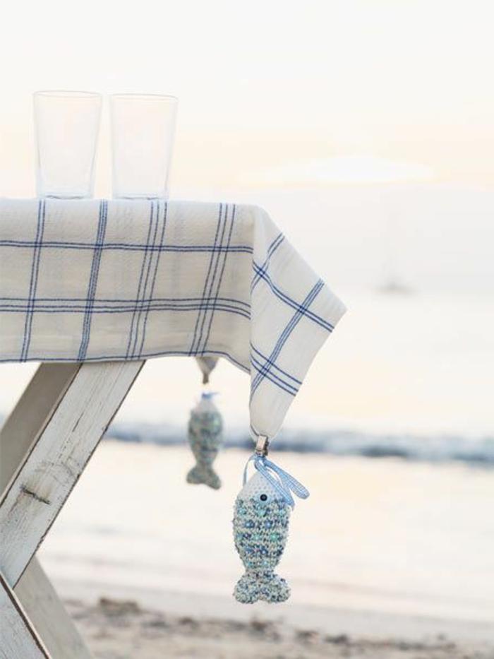 strand dekoideen für den sommer fische aufhängen tischdeko maritim