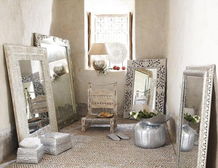 arabische möbel viele spiegel im zimmer die spiegel finden platz in jedem zimmer dekorative rahmen lampe fenster