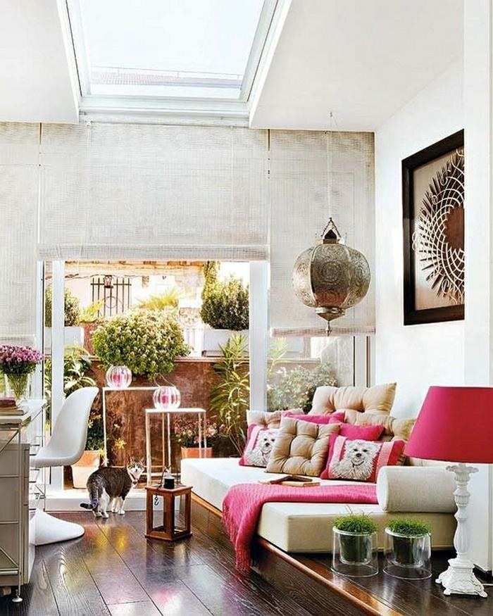 orientalische dekoration buntheit in dem zuhause einfügen zyklamene farbe katze heiliges tier marokkanische lampe
