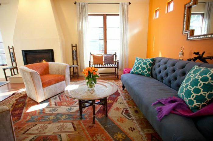 marokkanische lampen dekoration ideen farben kontrastieren bei der orientalischen deko arabischer stil krasse farben