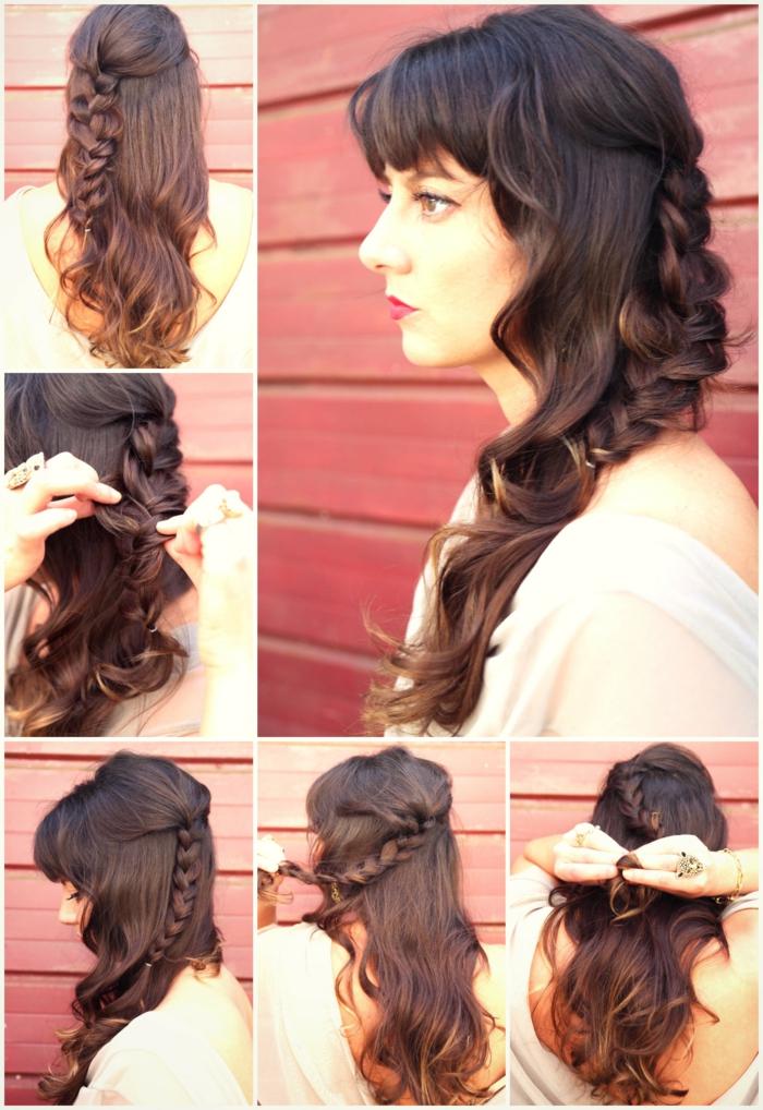 seitlich geflochten eine ausführliche Anleitung, wie Sie diese Frisur selbst zu schaffen