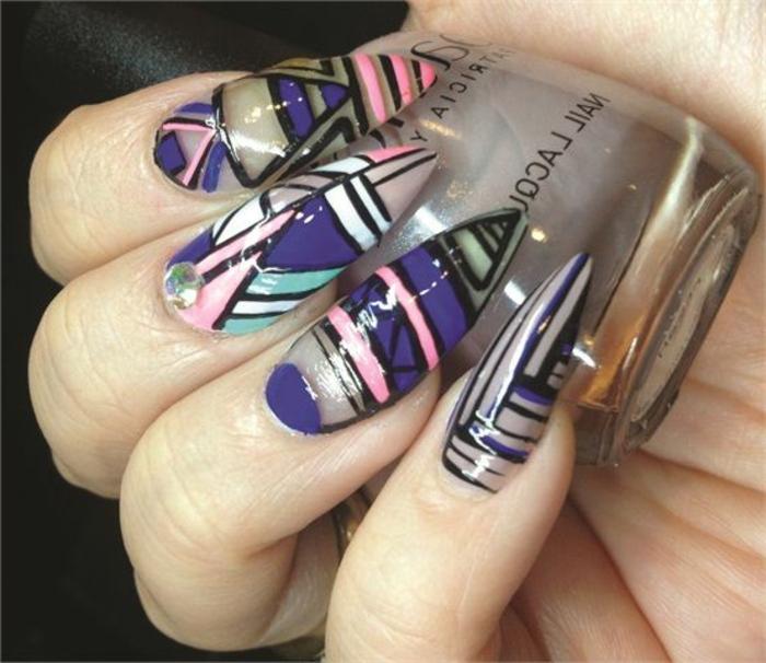 nagel design ideen zum gestalten schöne bunte fingernägel selber formen und lackieren mit nagellack