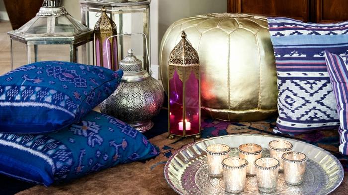 ▷ 130 + ideen für orientalische deko - luxus pur in ihrer wohnung, Wohnzimmer