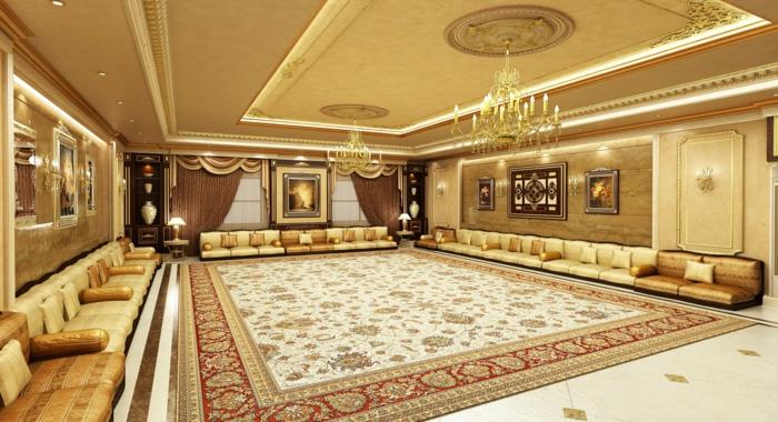 orientalisch einrichten luxuriöses flair in dem eigenen zuhause luxus interieur design großer persischer teppich