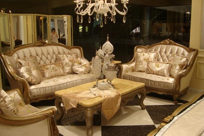 orientalisch einrichten heißt auf jeden vall goldene möbel und dekorationen verwenden ideen zum gestalten