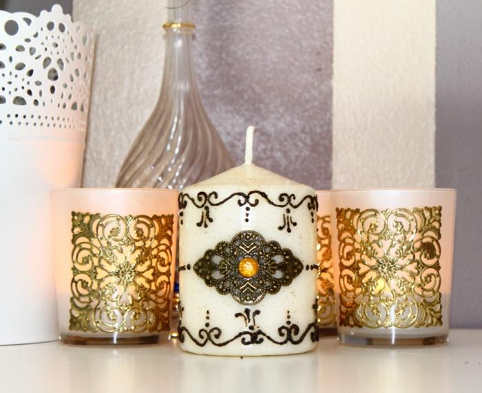 arabische möbel kerzen topf flasche dekorative elemente im orientalischen haus dekoration auf den kerzen