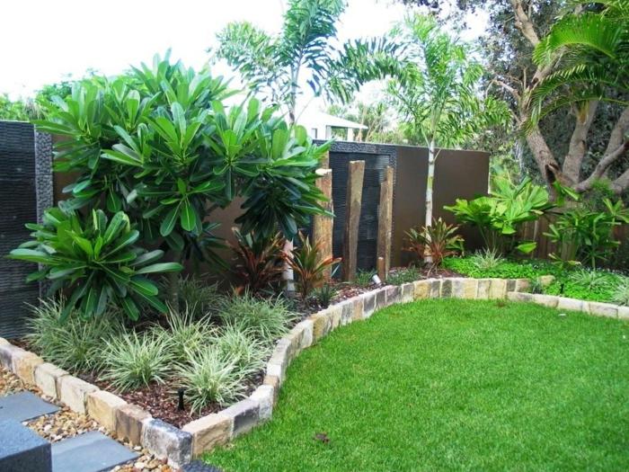 eine Idee, wie eine perfekten Gartengestaltung pflegeleicht aussehen kann