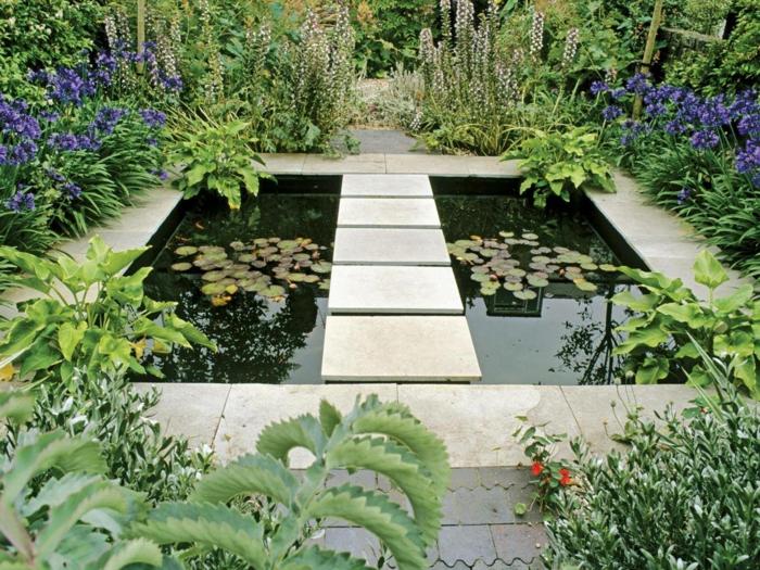 Garten nach Feng Shui gestalten mit Seerosen Gartengestaltung pflegeleicht