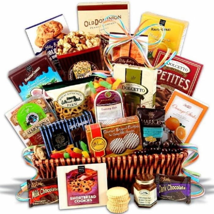 eine Menge Süßigkeiten für gute Stimmung - Geschenkkorb selber zusammenstellen
