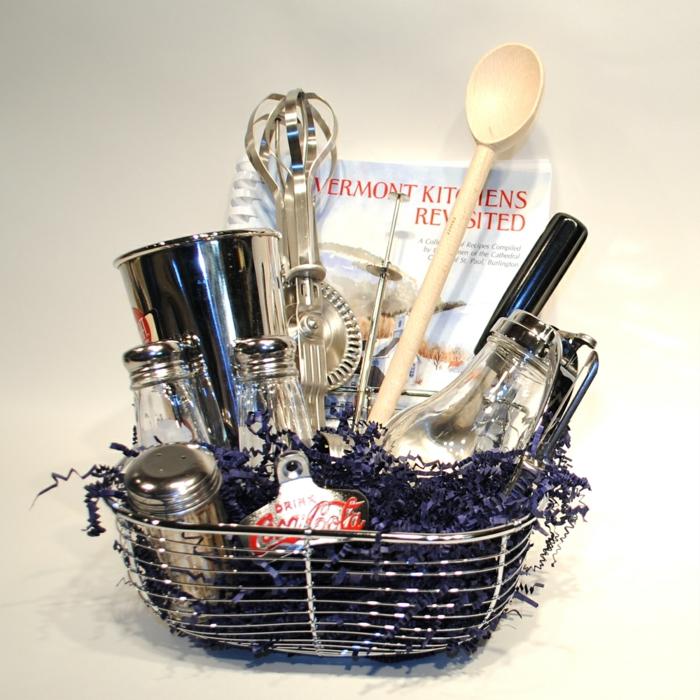 viele Küchenzubehör - Geschirr, Besteck Salzfass - Präsentkorb Inhalt selber zusammenstellen