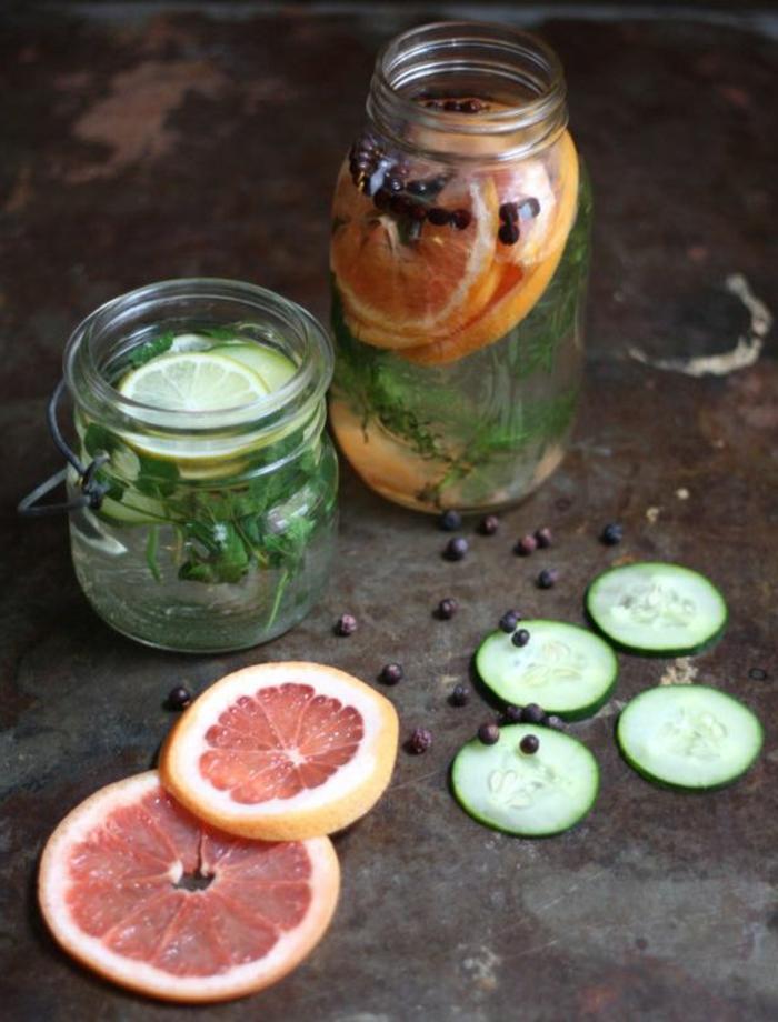 duft und raum, einmachgläser, glasbehälter, grapefruit, limette, gurkel