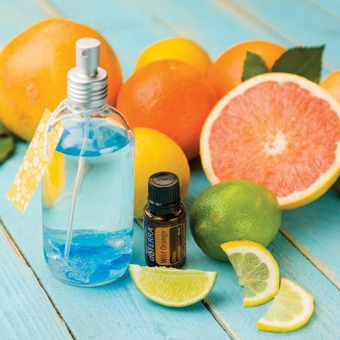 grapefruit, limette, zitrone, äthetisches öl, duftspray mit orangenöl