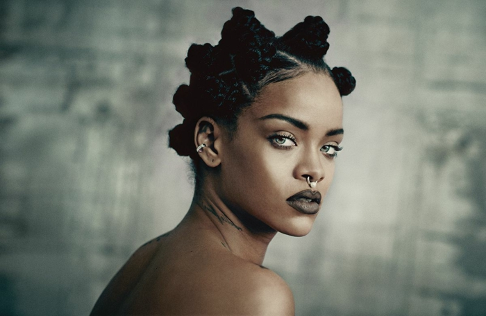 Bilder von Rihanna aus dem Musikvideo Disturbia sehr ausgefallene Frisur