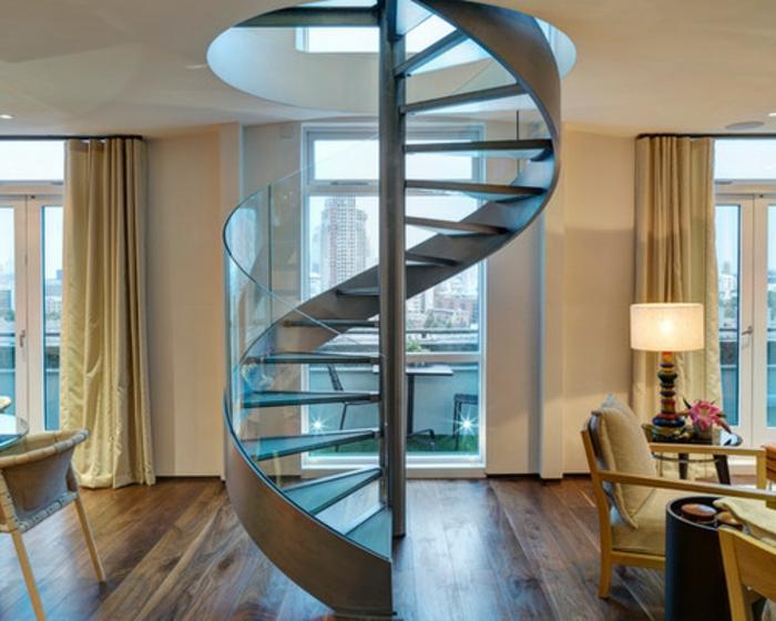wendeltreppen f r den innen und au enbereich. Black Bedroom Furniture Sets. Home Design Ideas