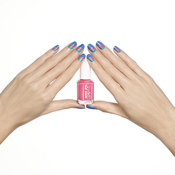 Ideen für Sommer Nageldesign, Kombination von drei frischen Farben, schlicht und toll