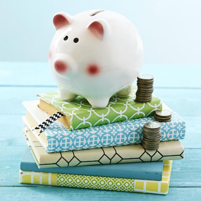 Sparschwein-schönes Geschenk für jeden Anlass, Sparbüchse für Münzen, mit Spaß Gelb sparen
