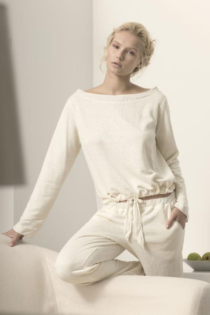 Sports Anzug jogginghose weiß edel und schön