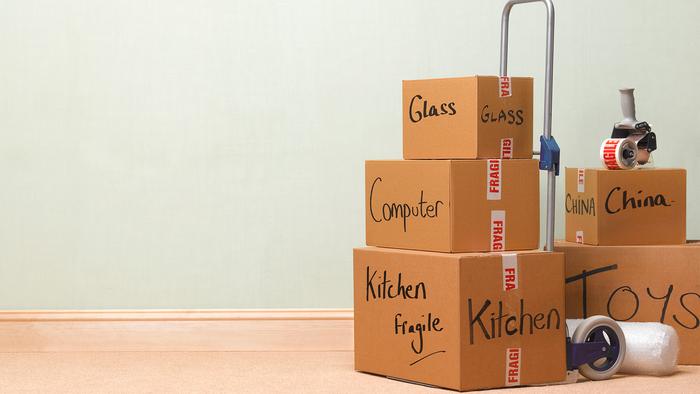 Umzug mit Spedition, Ein- und Auspacken, Umzugskartons liefern, neues Zuhause