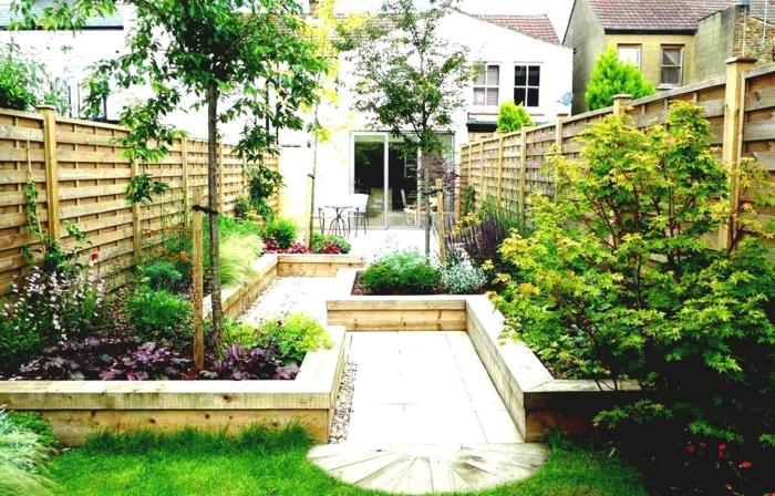 80 pflegeleichter garten ideen zum entlehnen und inspirieren - Kleinen vorgarten gestalten ...