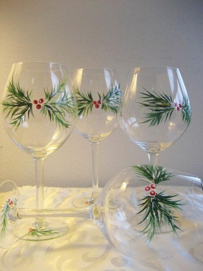 weihnactslich dekorieren, gläser, grüne zweige, hegebutte, tisch