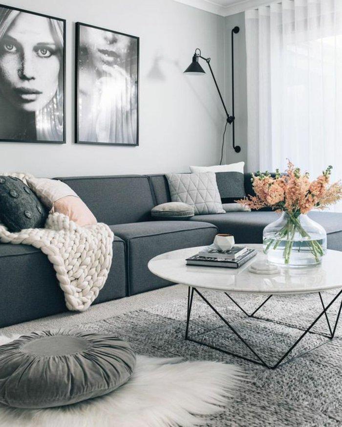 Perlgrau - eine wunderschöne Kombination für das Wohnzimmer