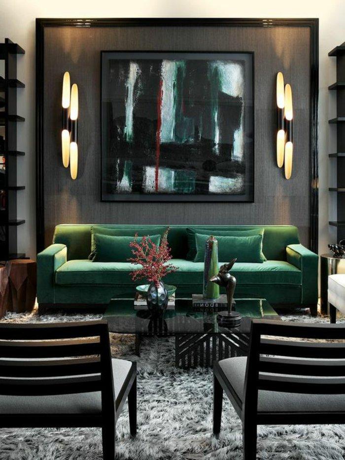 Perlgrau und grün kombiniert für ein stilechtes Ambiente
