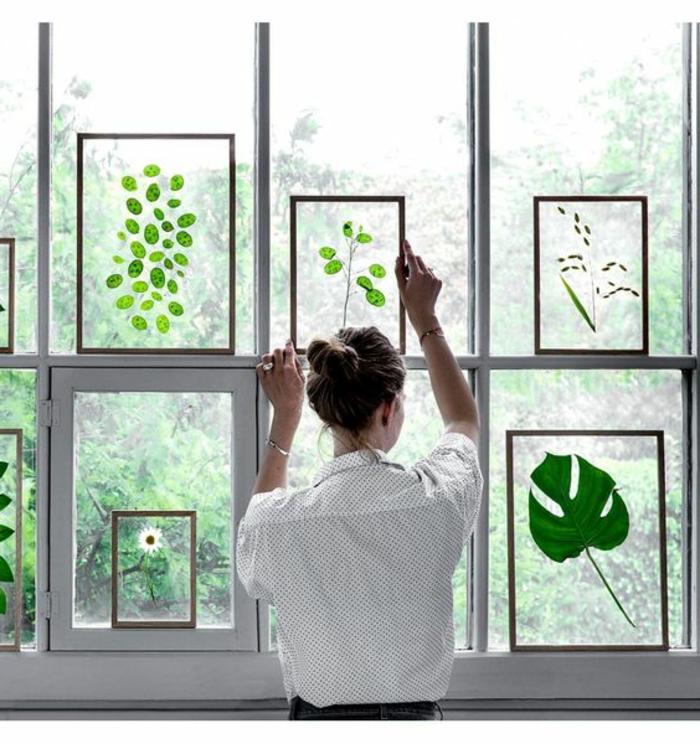 Fensterbilder Sommer und Frühling die Fensterscheibe bekleben