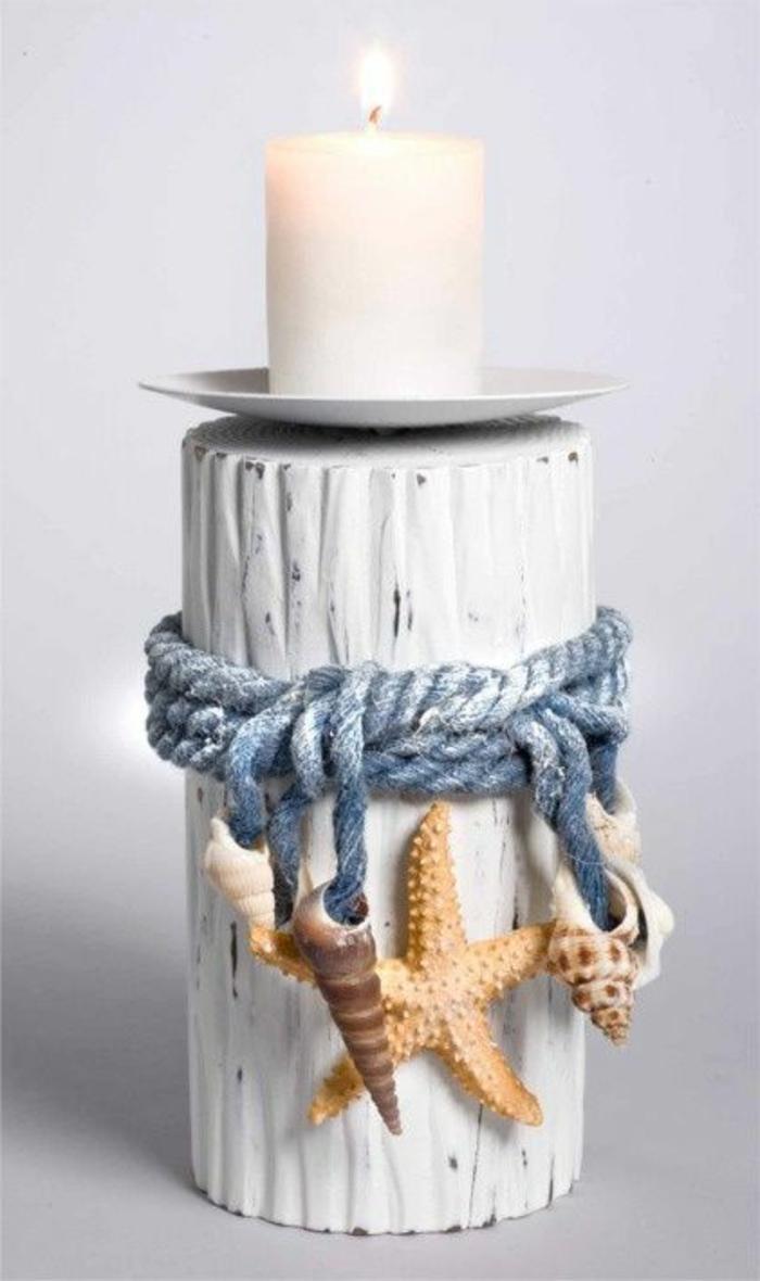Fensterdeko Sommer Kerzenhalter basteln