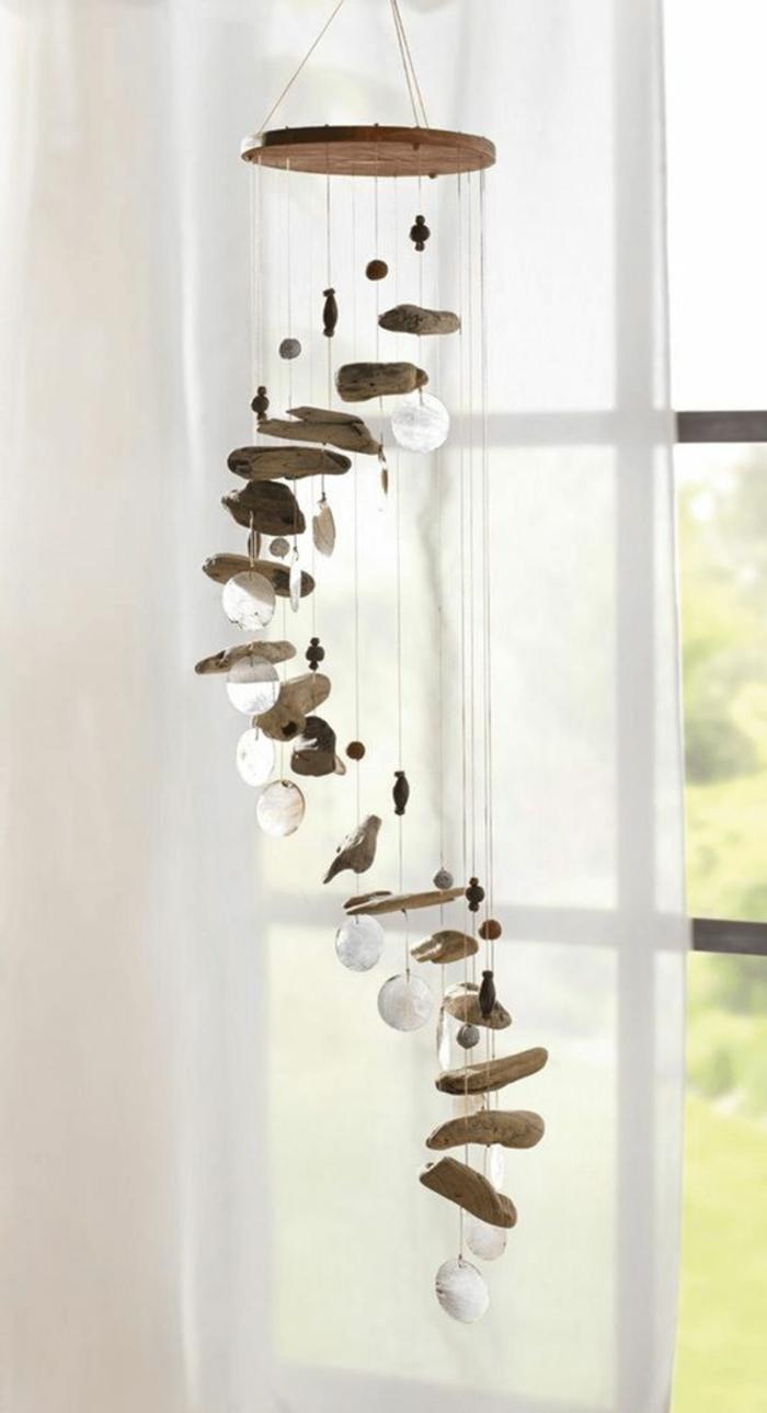Fensterdeko Sommer basteln mit Treibholz